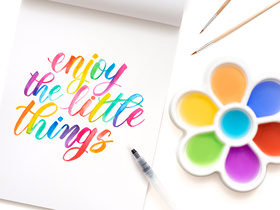 Watercolor Lettering by Kelly Creates