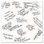 Wedding Guest Book - Signature Page Sample