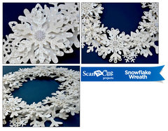 Brothers ScanNCut Snowflake Wreath