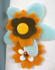 Felt Flowers (close-up)