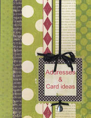 New Holiday Organizer - Addresses & Card Ideas Section Page