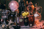DIY Harry Potter Potion Display for Halloween: Dumbledore's office