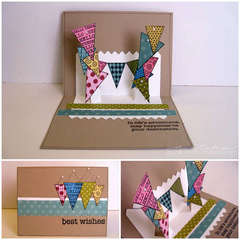 best wishes pop-up card