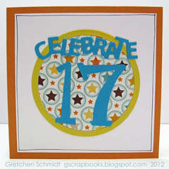 celebrate 17 - pop up card (front)