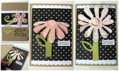 If Friends Were Flowers card - Sizzix Bigz Flower Die, 3-D (Flip-Up)