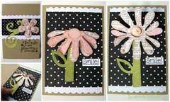 If Friends Were Flowers card - Sizzix Bigz Flower Die, 3-D (Flip-Up)