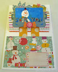 Happy Winter card - inside (for Sizzix Triple Play Blog Hop)