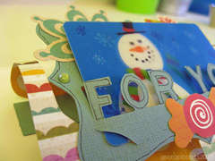 Happy Winter card - close up (for Sizzix Triple Play Blog Hop)