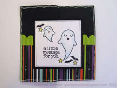 Hoppy Halloween card - front