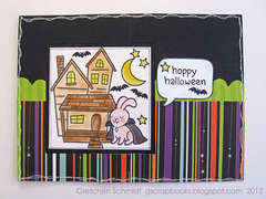 Hoppy Halloween card - inside