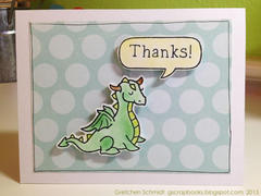 thanks! card using Lawn Fawn stamps
