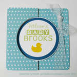 welcome baby card - front