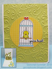 you're tweet Pop `n Cuts card