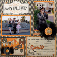 Happy Halloween 12x12 Layout