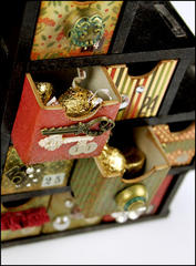 Christmas Advent Calendar (Drawers) - Close Up
