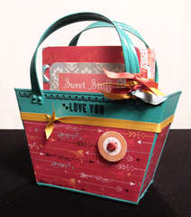 Valentine's Day Basket Purse with Accordion Mini-Book