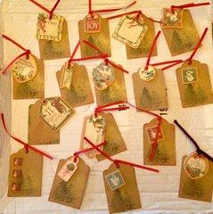 12 Days of Christmas Swap- tags