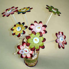 Chipboard Flower Bouquet