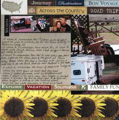 Kansas 2011 Pg 1 featuring Scrapbook Customs Kansas and Travel Papers