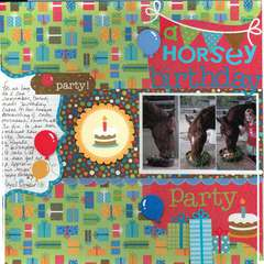 a horsey birthday party
