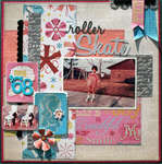 Roller Skate by Susan Stringfellow featuring A Type of Art Stack from DCWV
