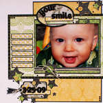 Your Smile by Jenny Evans using Lemon Flower Stack from DCWV