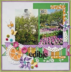 Edible Landscape by Susan Stringfellow featuring the DCWV Homespun Stack
