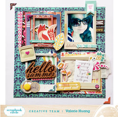 Hello Summer --Layering challenge**Scrapbook Circle**