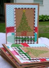 * FLAMINGO SCRAPS * Christmas Tree Card