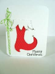 Fabric Stocking Card