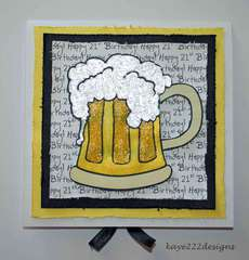 Happy 21st Birthday Beer Card