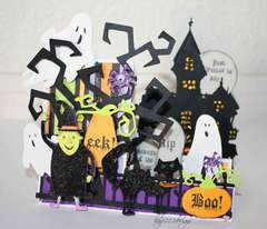 Just wanted to say....Boo! Side Step Card