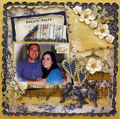 "LOVE BIRDS *SCRAP THAT! NOVEMBER ""PUTTING ON THE GLITZ"" KIT FEATURING GLITZ VINTAGE BLUE"