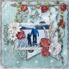 Hello Winter last DT layout for ***Scrap Around the World***
