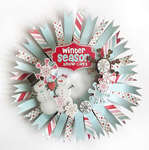 {Winter Wreath} *Pink Paislee*