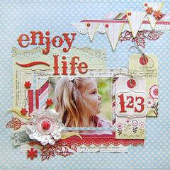 {Enjoy Life} *Pink Paislee*