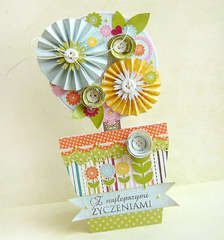 {With Best Wishes - flower tree} - card