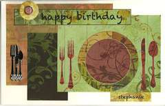 Cookbook Birthday Card