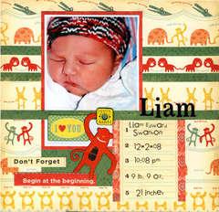 Liam's Album Title Page