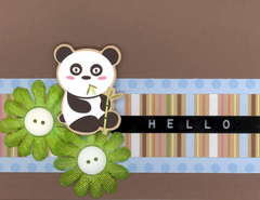 NEW IMAGINISCE Hello Panda Card