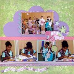 Girl Scout Teddy Bear PJ Party - CROP ADDICT May 2008 Manufacturer Kit *Crate Paper*