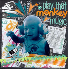Play That Monkey Music - Pink Pineapple DT