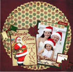 Reminisce Here Comes Santa Layout