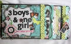 3 Boys and 1 Girl Acrylic Mini~BoBunny Guest Designer Projects