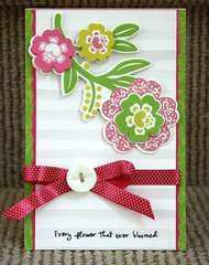 Flower Card *Purple Cows/Helmar Adhesives*