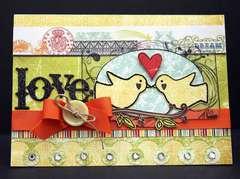 Lovebirds Card *gonescrapbooking/examiner*