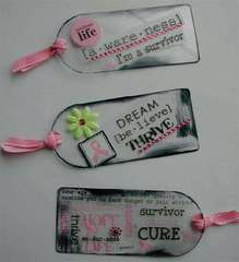 Scrap Pink Acrylic Tags