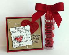 Be Mine mini card & TUBE - by Jenyfur Pohl