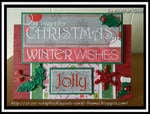 #48 Winter Wishes Christmas Card (Topper)