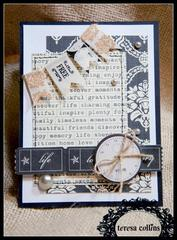 **Teresa Collins** Vintage Finds Card